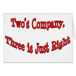 Two's Company.. Card