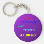 TWO'S COMPANY KEYCHAIN
