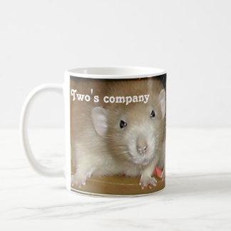 Two's company, three's a squash! classic white coffee mug