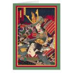 TwoSamurai - banda de Woodblock del japonés… - Mod Felicitaciones