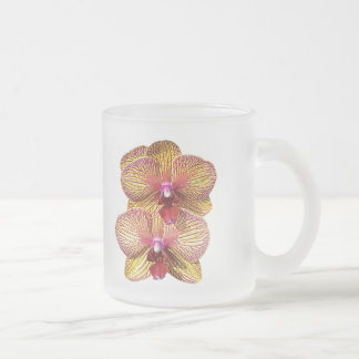 TwoYellow and Magenta Orchids Mugs