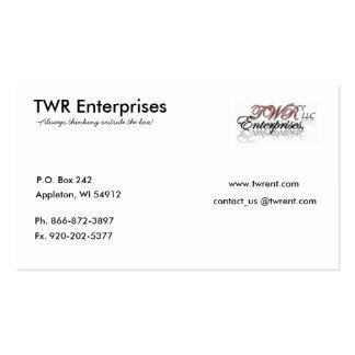 TWR Enterprises Company Business Cards