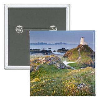Twr Mawr Lighthouse On Llanddwyn Island Pinback Button