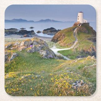 Twr Mawr Lighthouse On Llanddwyn Island Square Paper Coaster