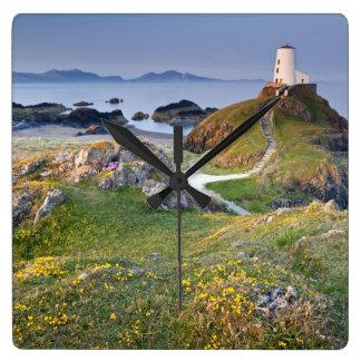 Twr Mawr Lighthouse On Llanddwyn Island Square Wall Clock