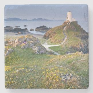 Twr Mawr Lighthouse On Llanddwyn Island Stone Coaster