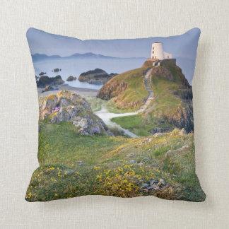 Twr Mawr Lighthouse On Llanddwyn Island Throw Pillow