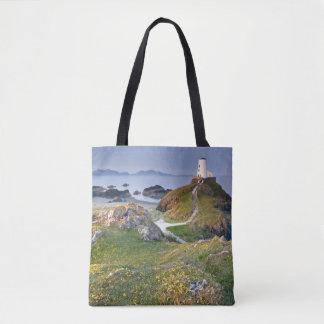 Twr Mawr Lighthouse On Llanddwyn Island Tote Bag