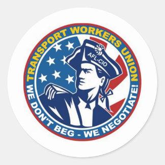 TWU General Support Classic Round Sticker