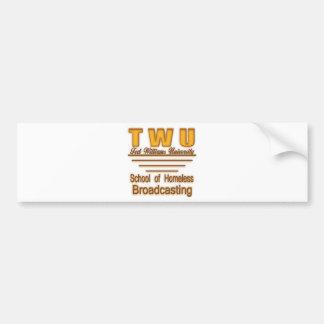 TWU Homeless Broadcasting2use Bumper Sticker