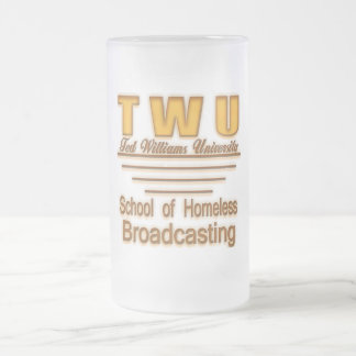 TWU Homeless Broadcasting2use Frosted Glass Beer Mug