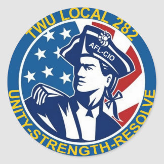 TWU Local 282 Classic Round Sticker