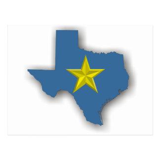 TX - A Blue State! Postcard