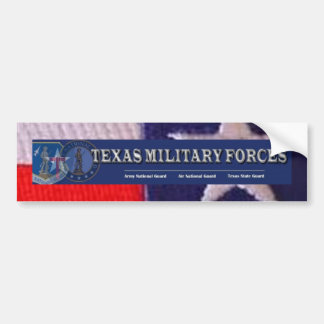 TX flag square, texas military forces Bumper Sticker