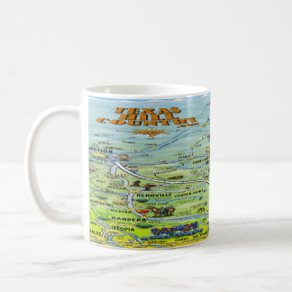 TX Hill Country Cartoon Map Coffee Mug