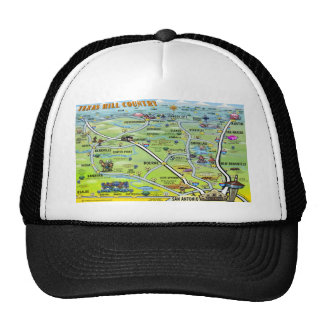 TX Hill Country Cartoon Map Trucker Hat