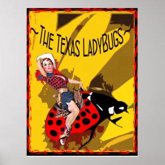 TX LadyBugs Poster with Kitty Bug