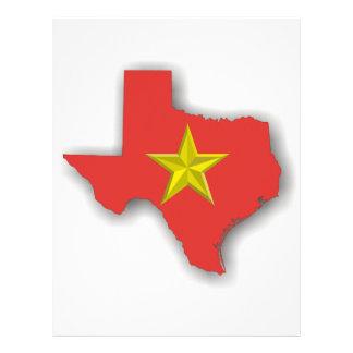 TX un estado rojo Membrete Personalizado