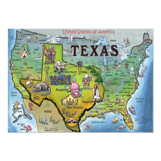 TX USA Map Card