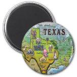 TX USA Map Fridge Magnet