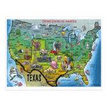 TX USA Map Postcard