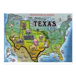 TX USA Map Postcards