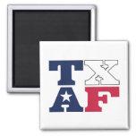 TXAF Texan fridge magnet