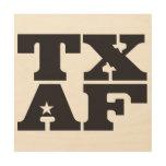 TXAF wood wall hanging Wood Print