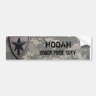 txsg  HOOAH, Honor, Pride, Duty Car Bumper Sticker
