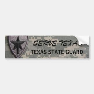 txsg patch left, SERVE TEXAS, TEXAS STATE GUARD Car Bumper Sticker
