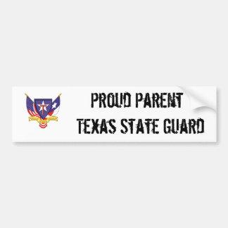 txsg proud parent texas state guard car bumper sticker
