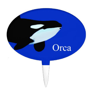 txt gráfico subacuático de la orca de la orca decoraciones para tartas