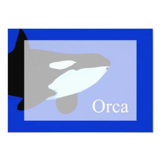 """txt gráfico subacuático de la orca de la orca invitación 5"""" x 7"""""""