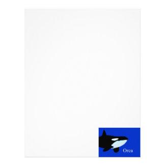 txt gráfico subacuático de la orca de la orca membrete personalizado