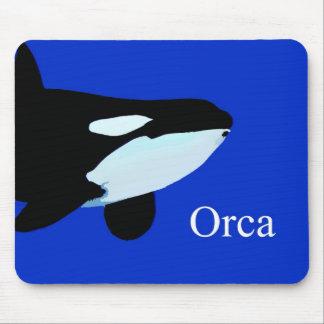 txt gráfico subacuático de la orca de la orca mouse pad