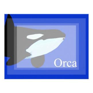 txt gráfico subacuático de la orca de la orca plantillas de membrete