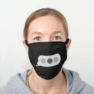 TXT in Progress Black Cotton Face Mask