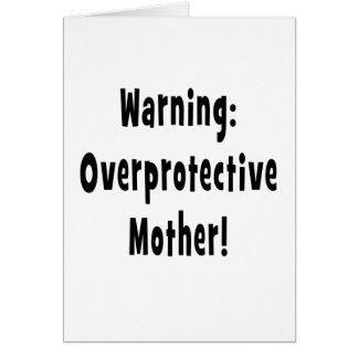 txt sobreprotector amonestador del negro de la tarjeta de felicitación