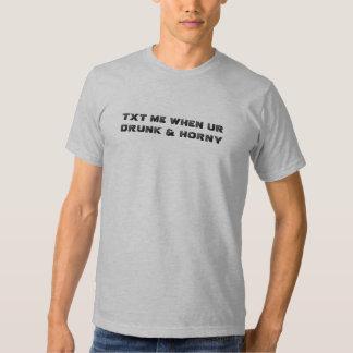 ¡TXT YO CUANDO camiseta BEBIDA y CÓRNEA de UR! Poleras