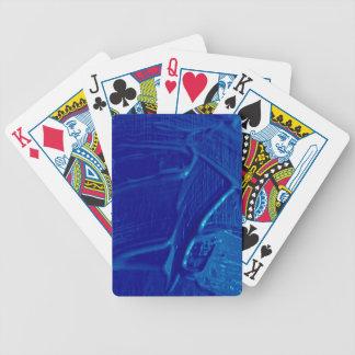 txture mojado del color, azul barajas de cartas