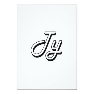 Ty Classic Retro Name Design 3.5x5 Paper Invitation Card