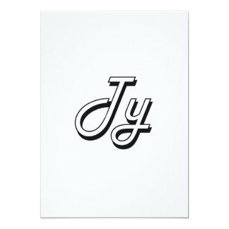 Ty Classic Retro Name Design 5x7 Paper Invitation Card