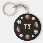 Ty World of Sports Keychain - Black