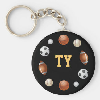 Ty World of Sports Keychain - Black