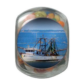 Tybee Boat Glass Candy Jar