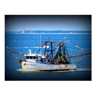 Tybee Boat Postcard