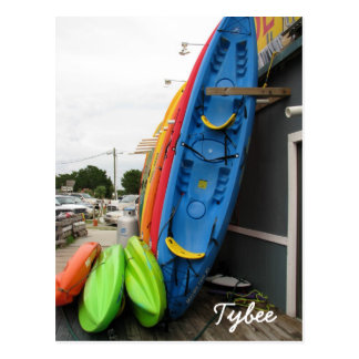 Tybee Canoes Post Card
