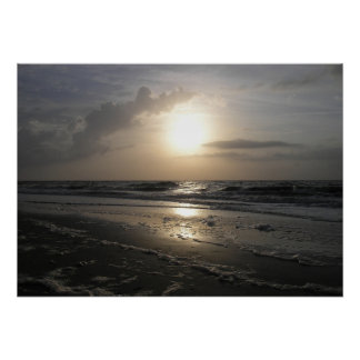 """""""Tybee Island at Dawn"""" Poster"""