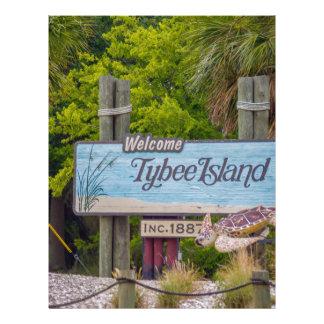 tybee island beach letterhead