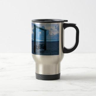 tybee island beach ocean front evening travel mug